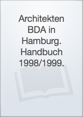 Architekten BDA in Hamburg. Handbuch 1998/1999. Image Cover